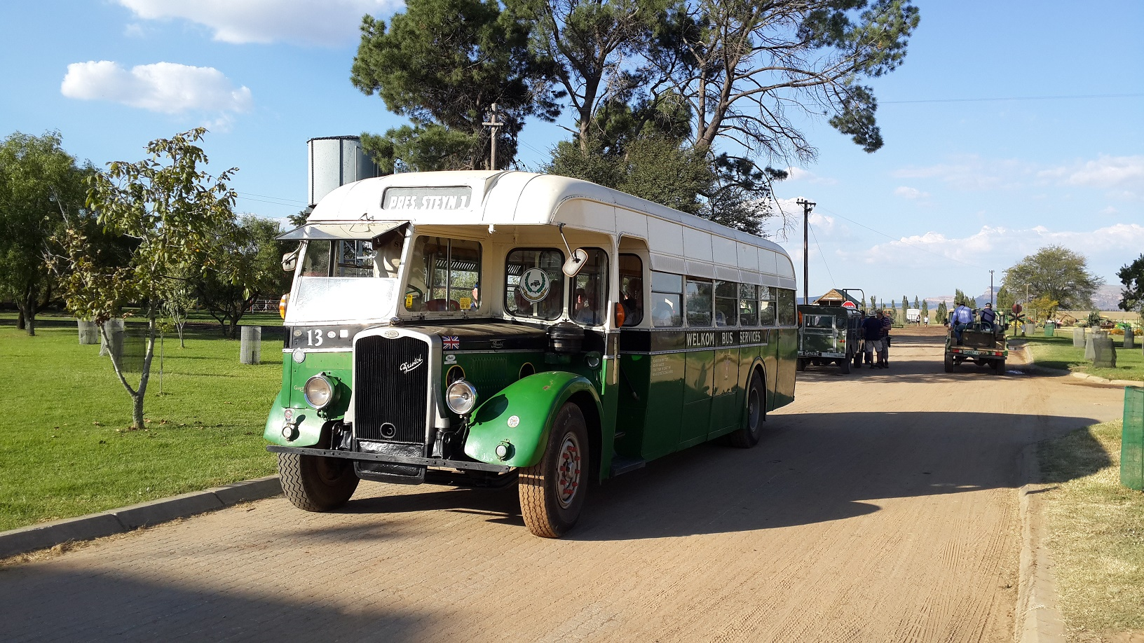 Sandstone's 1954 Bristol bus, ready for the off! Picture by Dave Richardson