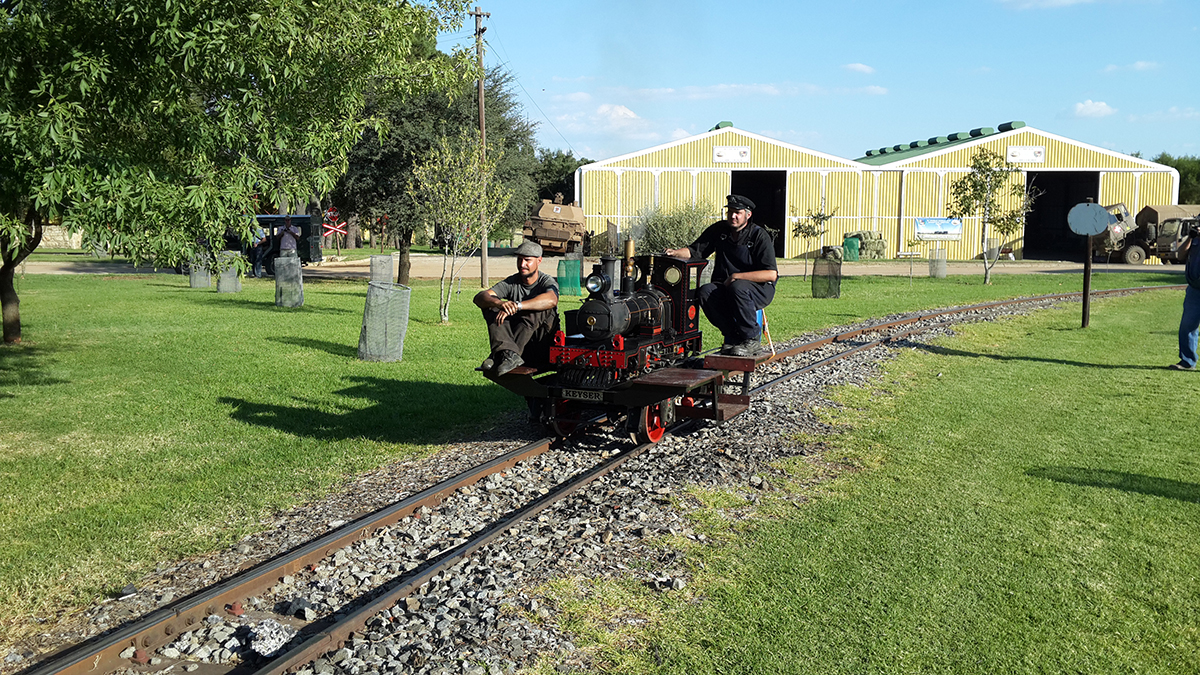 "Andries Keyser's 71/4"" gauge Lawley aboard its 2ft gauge trolley Picture by Dave Richardson"