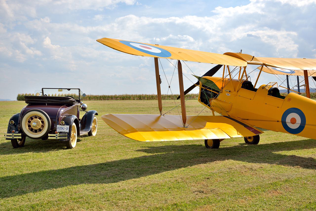 1930's style, the Tiger Moth and Ford Model A Picture by Gary McCrystal