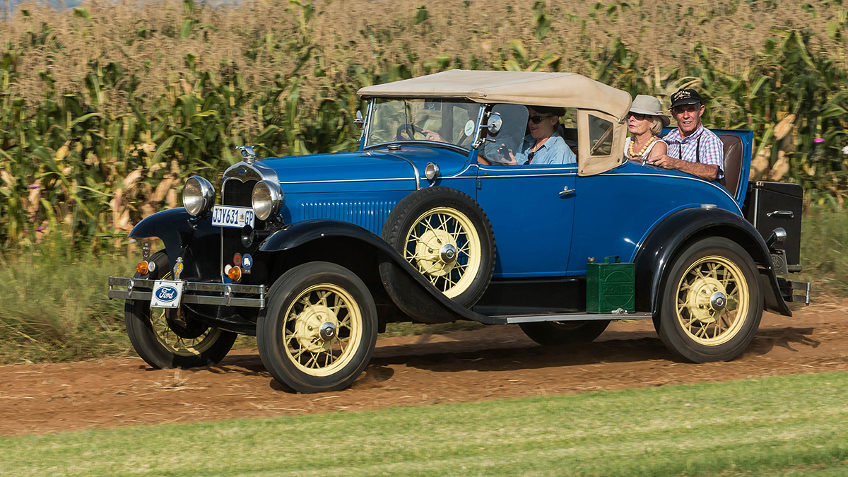A 1930 Ford Model A Coupe from the Model A Car Club of South Africa