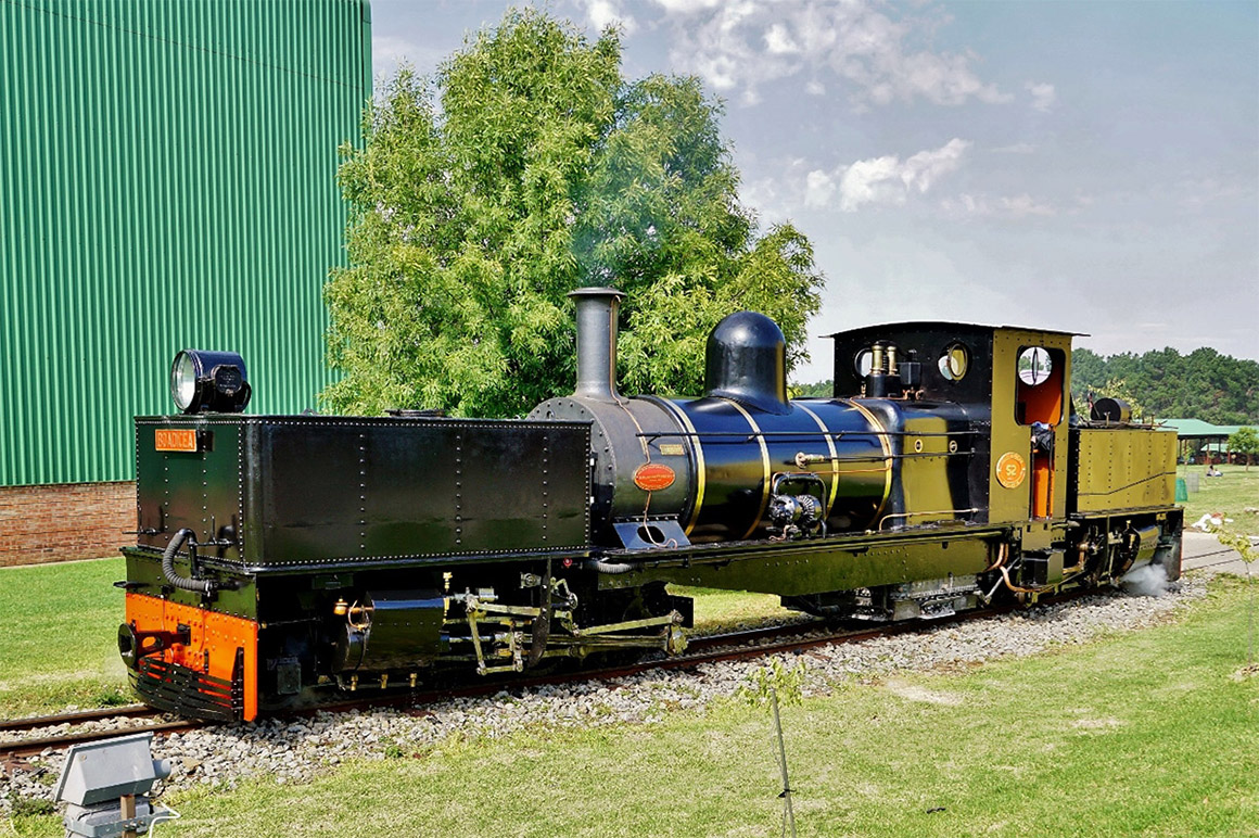 "Sandstone's newly restored Class NGG11 52, ""Boadicea"" basks in the Free State sunshine"
